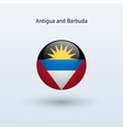 Antigua and Barbuda round flag vector image vector image