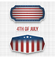 banners for 4th of july american holiday vector image vector image