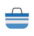 blue tote bag ison flat design vector image vector image
