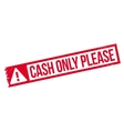 Cash Only Please rubber stamp vector image vector image