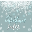 Christmas sales grunge lettering design on blue vector image vector image