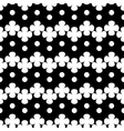 Circle and flower white seamless pattern vector image vector image