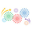 colorful fireworks decorations vector image vector image