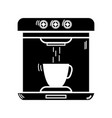 contour technology coffee maker electric kitchen vector image vector image