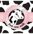 Cow background vector image