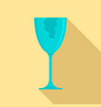 cracked glass icon flat style vector image