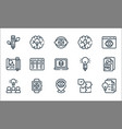 design thinking line icons linear set quality vector image vector image