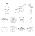 design tomat and diet logo set tomat vector image vector image