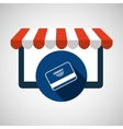 e-commerce virtual shop credit card icon vector image vector image