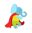 Elephant Animal Dressed As Superhero With A Cape vector image vector image