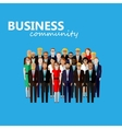 flat of business or politics community a large vector image vector image