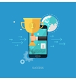 Flat seo business mobile concept design vector image
