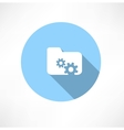 folder icon with gears vector image