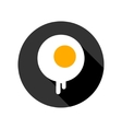 fried eggs flat icon vector image vector image