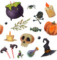 halloween scary elements seamless watercolor vector image vector image