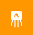heating system icon pictogram vector image vector image