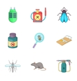 Home pest control service icons set cartoon style vector image vector image