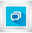 Icon of message for web and mobile applications vector image vector image