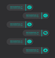 infographic buttons blue vector image