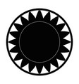 isolated big sun symbol vector image vector image