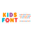 kids letters and numbers set cartoon bold style vector image