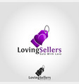 loving seller - sale with love vector image