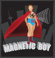 magnetic boy vector image vector image