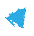 map of nicaragua high detailed map - nicaragua vector image