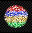 mauritius flag sparkling badge vector image vector image