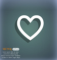 Medical heart Love icon symbol on the blue-green vector image
