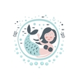 Mermaid Fairy Tale Character Girly Sticker In vector image vector image