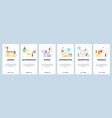 mobile app onboarding screens business calendar vector image