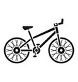 mountain bike icon simple style vector image