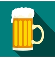 mug beer icon in flat style vector image vector image