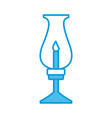 old lantern with candle vector image
