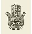 ornate hamsa hand fatima drawn ethnic amulet vector image vector image