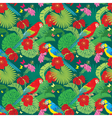 parrot flower seamless 380 vector image