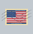 postage stamp july 4th independence day united vector image vector image