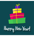poster happy new year greeting card template vector image vector image