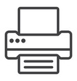 printer line icon web and mobile fax sign vector image