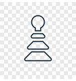 pyramidal toy concept linear icon isolated on vector image vector image