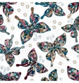 seamless patterns with butterflies various and vector image vector image