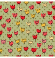 seamless pettern with many of tulips on a backgrou vector image