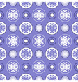 Seamless snowflake pattern vector image vector image