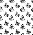 seamless wallpaper with silhouettes of flowers vector image vector image