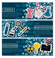 Set of Horizontal Banners about Science vector image vector image