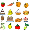 Set of meal icons