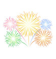 simple fireworks on white vector image