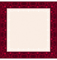 square red background with decorative ornaments vector image vector image