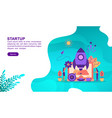 startup concept with character template for vector image